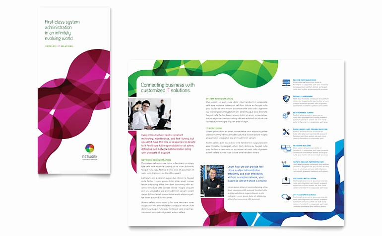 Microsoft Publisher Template Free Download New Network Administration Tri Fold Brochure Template Word