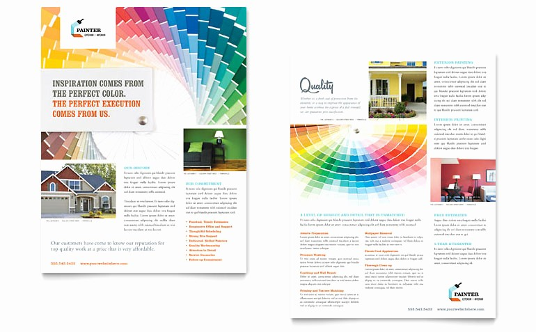 Microsoft Publisher Templates Free Downloads Luxury House Painting Contractor Datasheet Template Word