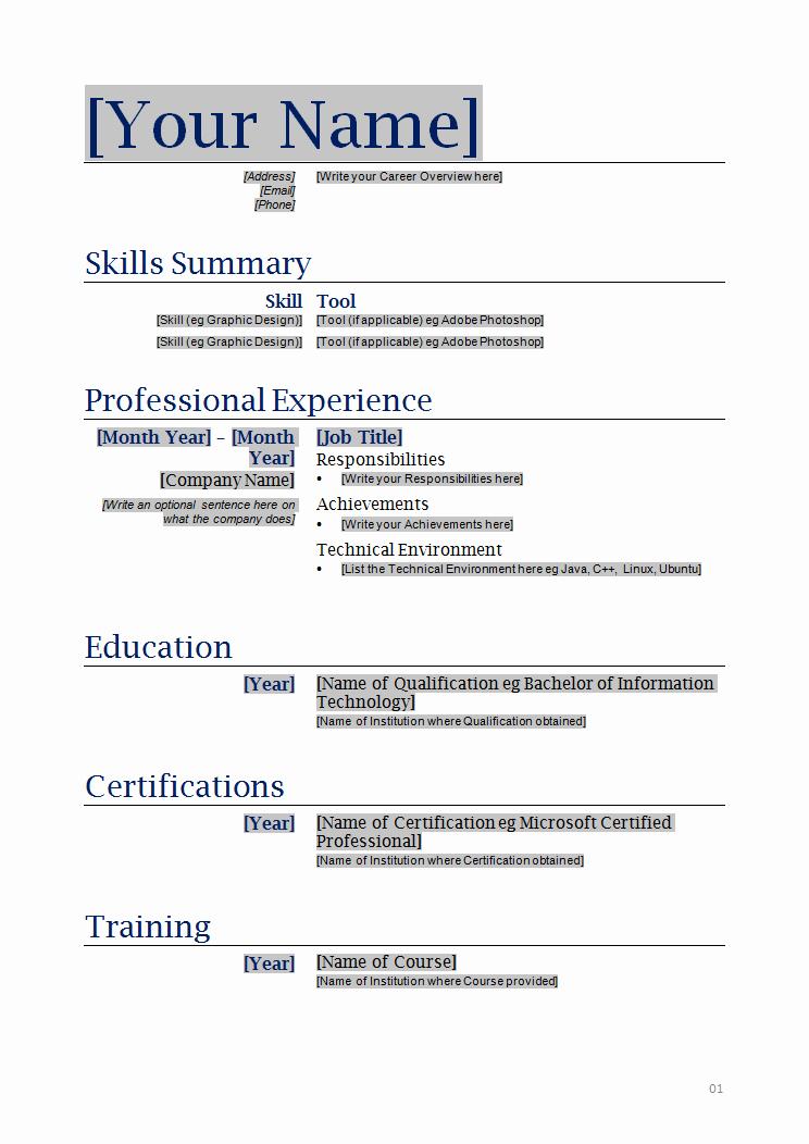 Microsoft Resume Templates Free Download Lovely Free Printable Resume Templates Microsoft Word