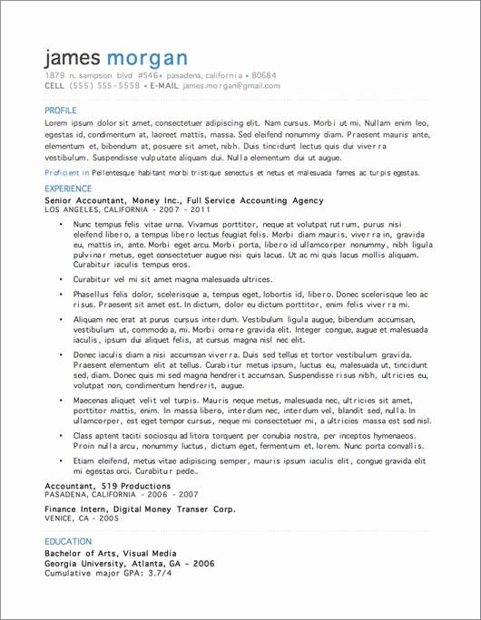 Microsoft Resume Templates Free Download Unique 12 Resume Templates for Microsoft Word Free Download