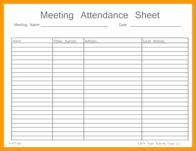 Microsoft Templates Sign In Sheet Elegant attendance Template Excel Printable Sheet Work Meeting
