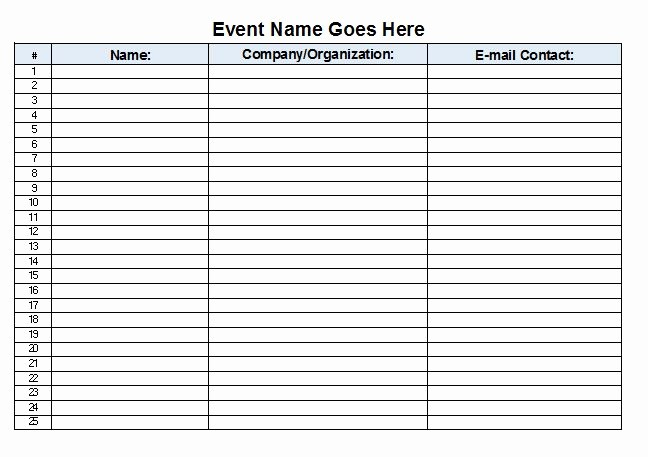 Microsoft Templates Sign In Sheet Unique Microsoft Excel Sign In Sheet Template Sign In Sheets