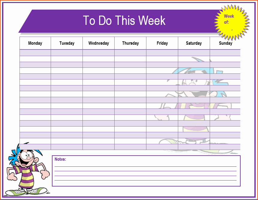 Microsoft to Do List Template Best Of 7 to Do Template Bookletemplate