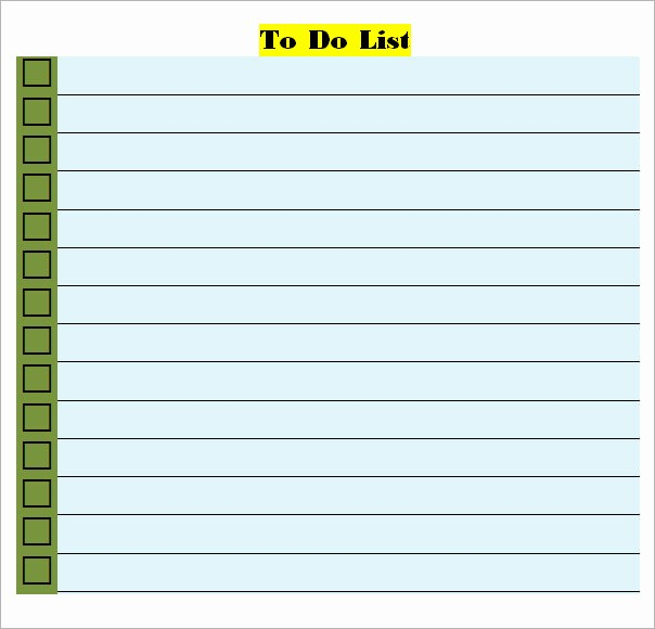 Microsoft to Do List Templates Beautiful Free Personal to Do List Template to Help You organize