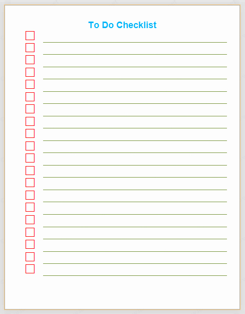 Microsoft to Do List Templates Best Of Things to Do Checklist Template List Templates