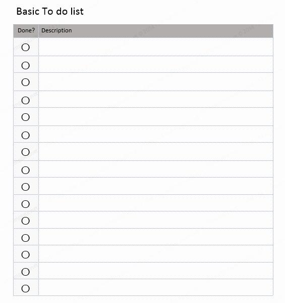 Microsoft to Do List Templates Fresh List Templates