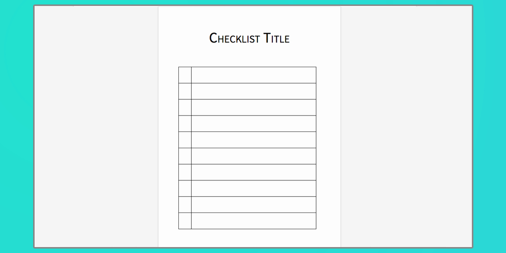 Microsoft to Do List Templates Lovely Checklist Template Word