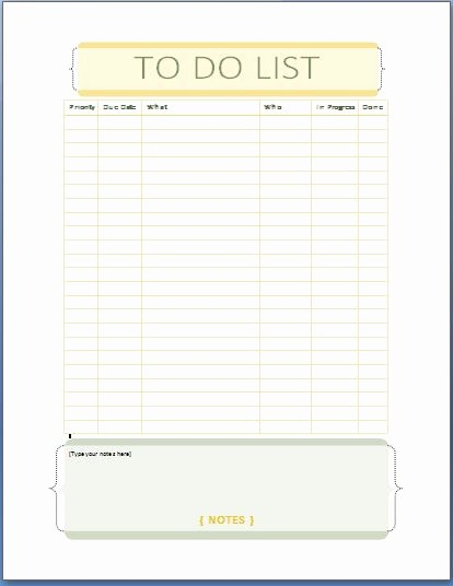 Microsoft to Do List Templates Luxury Ms Word to Do List Template Templates Station