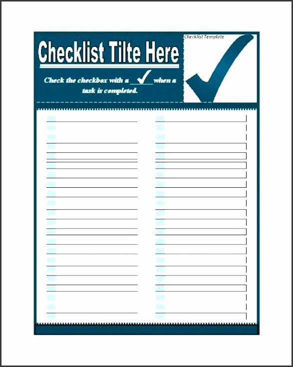 Microsoft to Do List Templates New 9 Checklist Templates Sampletemplatess Sampletemplatess