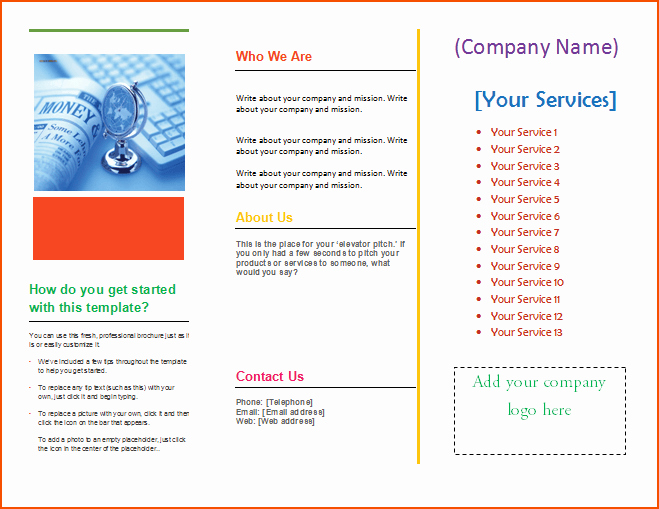 Microsoft Tri Fold Brochure Template Elegant 4 Pamphlet Template Word Bookletemplate