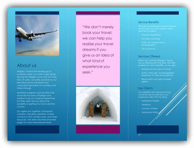 Microsoft Tri Fold Brochure Template Elegant Tri Fold Brochure Template Word