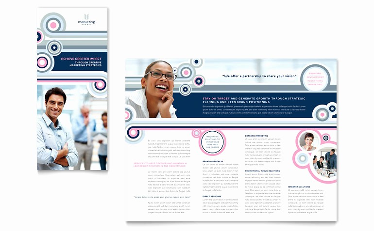 Microsoft Tri Fold Brochure Template Lovely Marketing Agency Tri Fold Brochure Template Word & Publisher