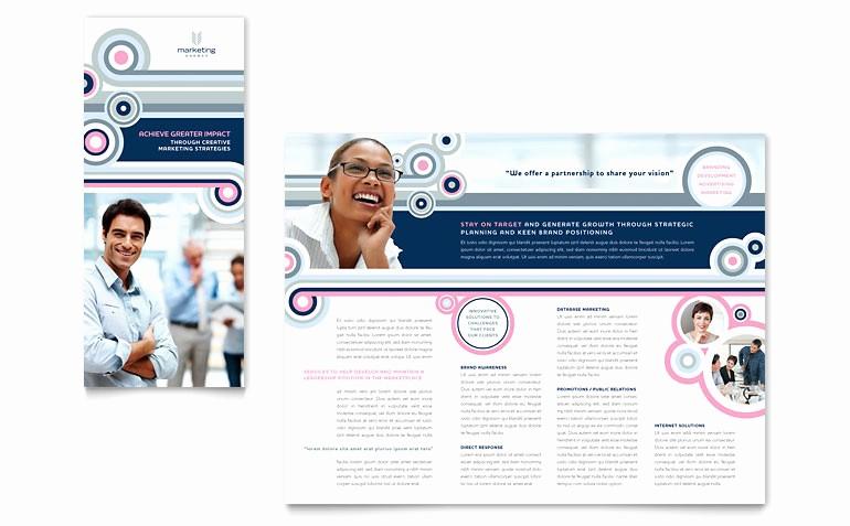 Microsoft Tri Fold Brochure Template Lovely Marketing Agency Tri Fold Brochure Template Word & Publisher
