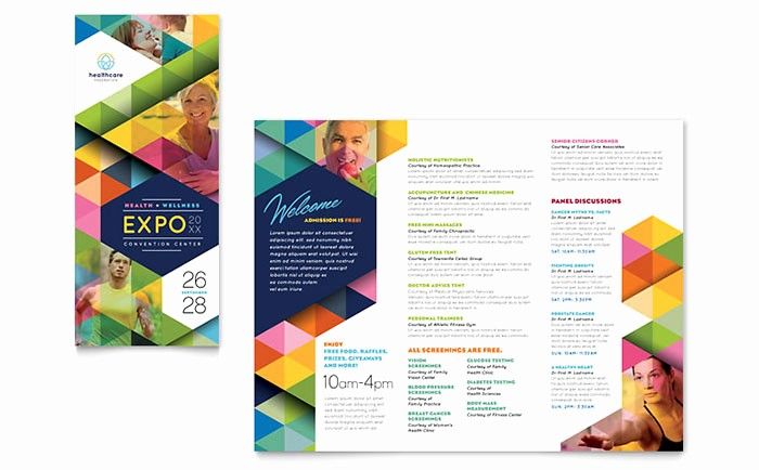 Microsoft Tri Fold Brochure Template Luxury Health Fair Tri Fold Brochure Template Word & Publisher