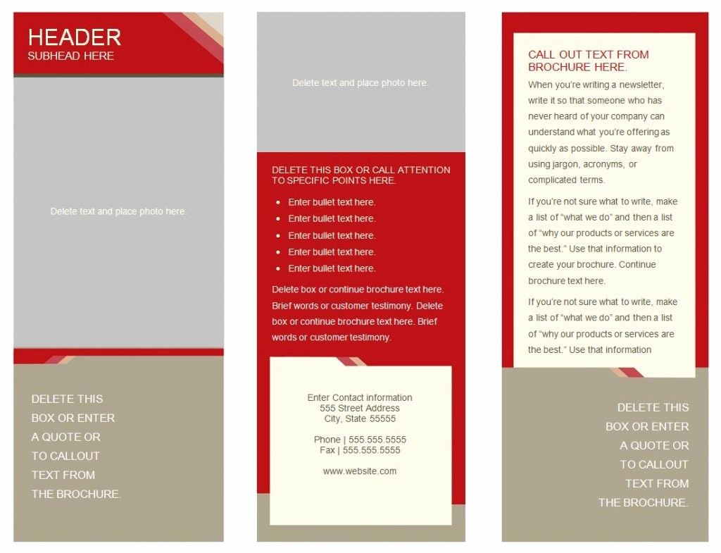 Microsoft Tri Fold Brochure Template New Brochure Templates Word Mughals