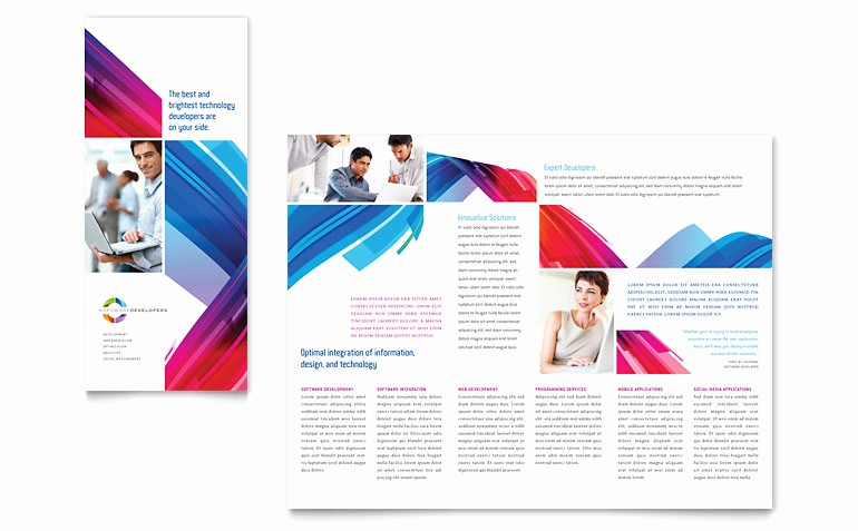 Microsoft Tri Fold Brochure Template Unique software solutions Tri Fold Brochure Template Word