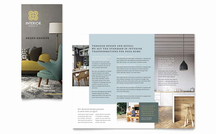 Microsoft Tri Fold Brochure Templates Elegant Interior Design Tri Fold Brochure Template Word & Publisher