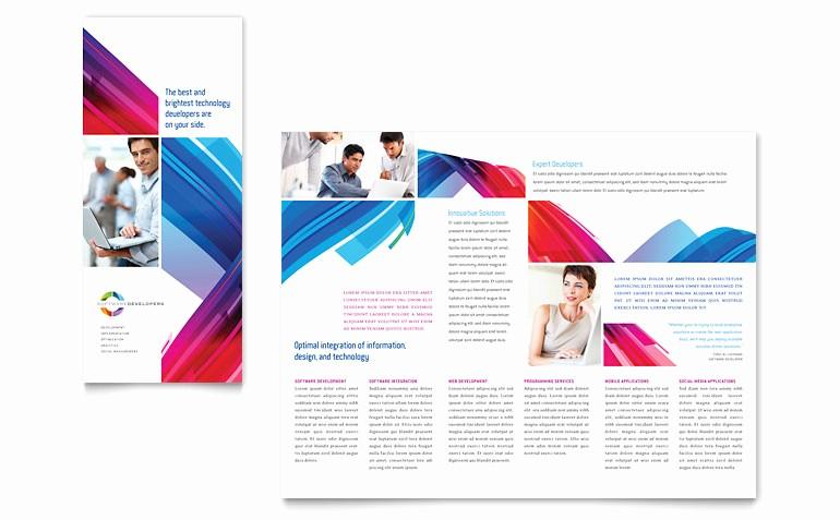 Microsoft Tri Fold Brochure Templates Elegant software solutions Tri Fold Brochure Template Word