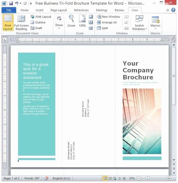 Microsoft Tri Fold Brochure Templates Fresh Tri Fold Brochure Template Microsoft Word