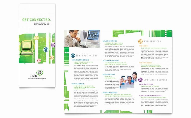 Microsoft Tri Fold Brochure Templates Inspirational isp Internet Service Tri Fold Brochure Template Word