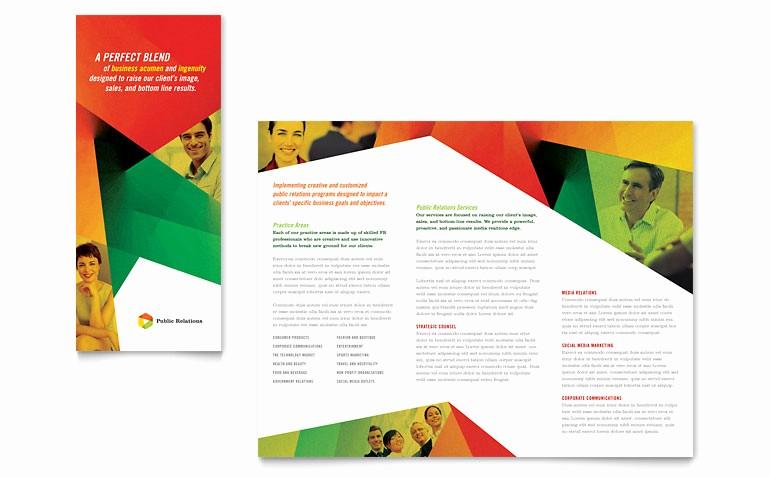 Microsoft Tri Fold Brochure Templates Inspirational Public Relations Pany Tri Fold Brochure Template Word
