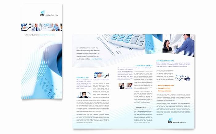 Microsoft Tri Fold Brochure Templates New Accounting Firm Tri Fold Brochure Template Word & Publisher