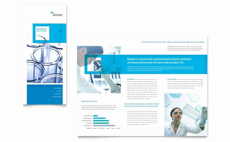 Microsoft Tri Fold Brochure Templates New Science & Chemistry Tri Fold Brochure Template Word