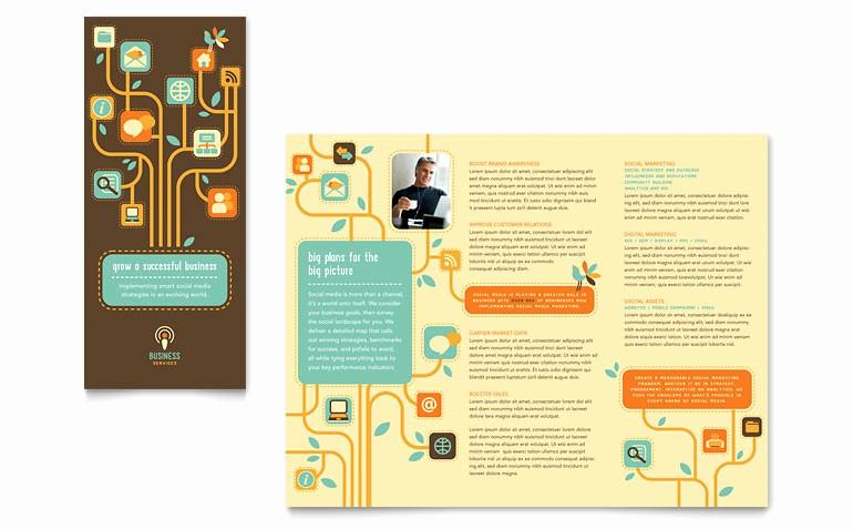 Microsoft Tri Fold Brochure Templates Unique Business Services Tri Fold Brochure Template Word