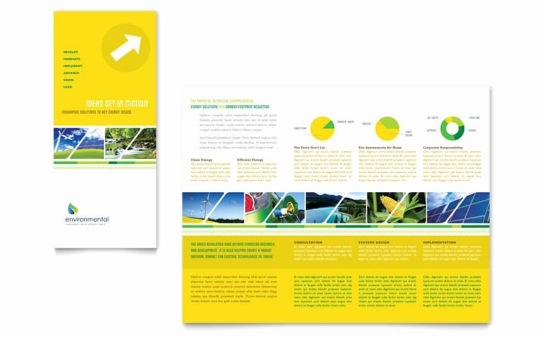 Microsoft Tri Fold Brochure Templates Unique Environmental Conservation Tri Fold Brochure Template