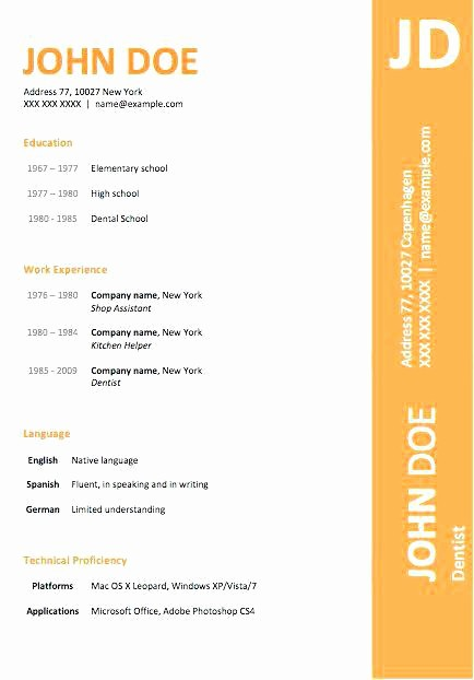 Microsoft Word 2003 Resume Templates Elegant Microsoft Word 2003 Resume Template