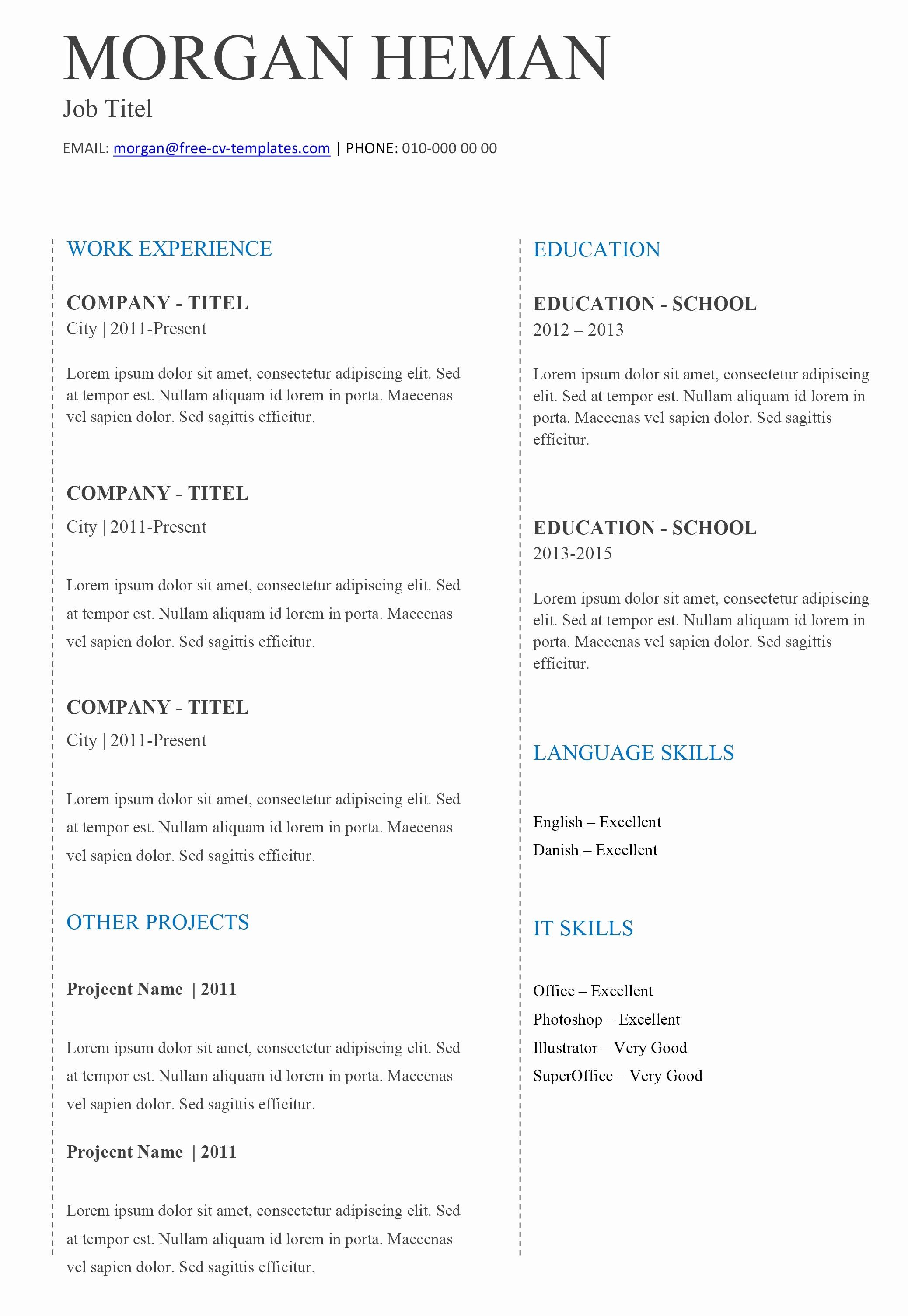 Microsoft Word 2003 Resume Templates Luxury Microsoft Word 2003 Resume Templates Inspirational 5