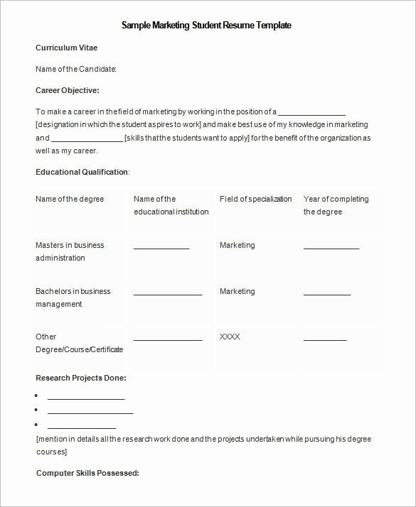 Microsoft Word 2007 Resume Template Awesome 34 Microsoft Resume Templates Doc Pdf