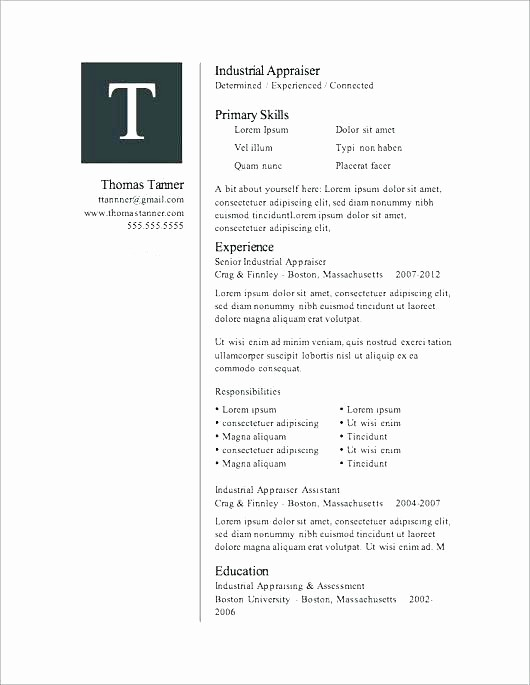 Microsoft Word 2007 Resume Template New Microsoft Word 2007 Resume Templates – Foodandme