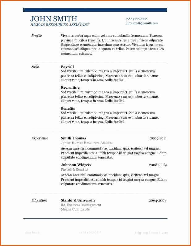 Microsoft Word 2007 Resume Templates Elegant 13 Microsoft Word 2007 Resume Templates Bud Template