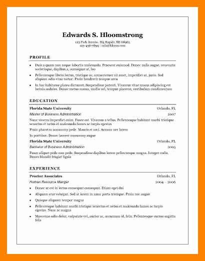 Microsoft Word 2007 Resume Templates Fresh 8 Free Cv Templates Microsoft Word 2007