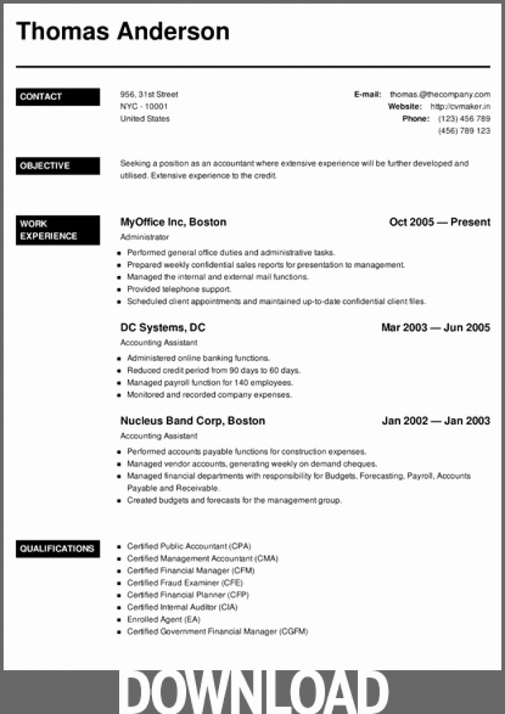 Microsoft Word 2007 Resume Templates Lovely Download 12 Free Microsoft Fice Docx Resume and Cv