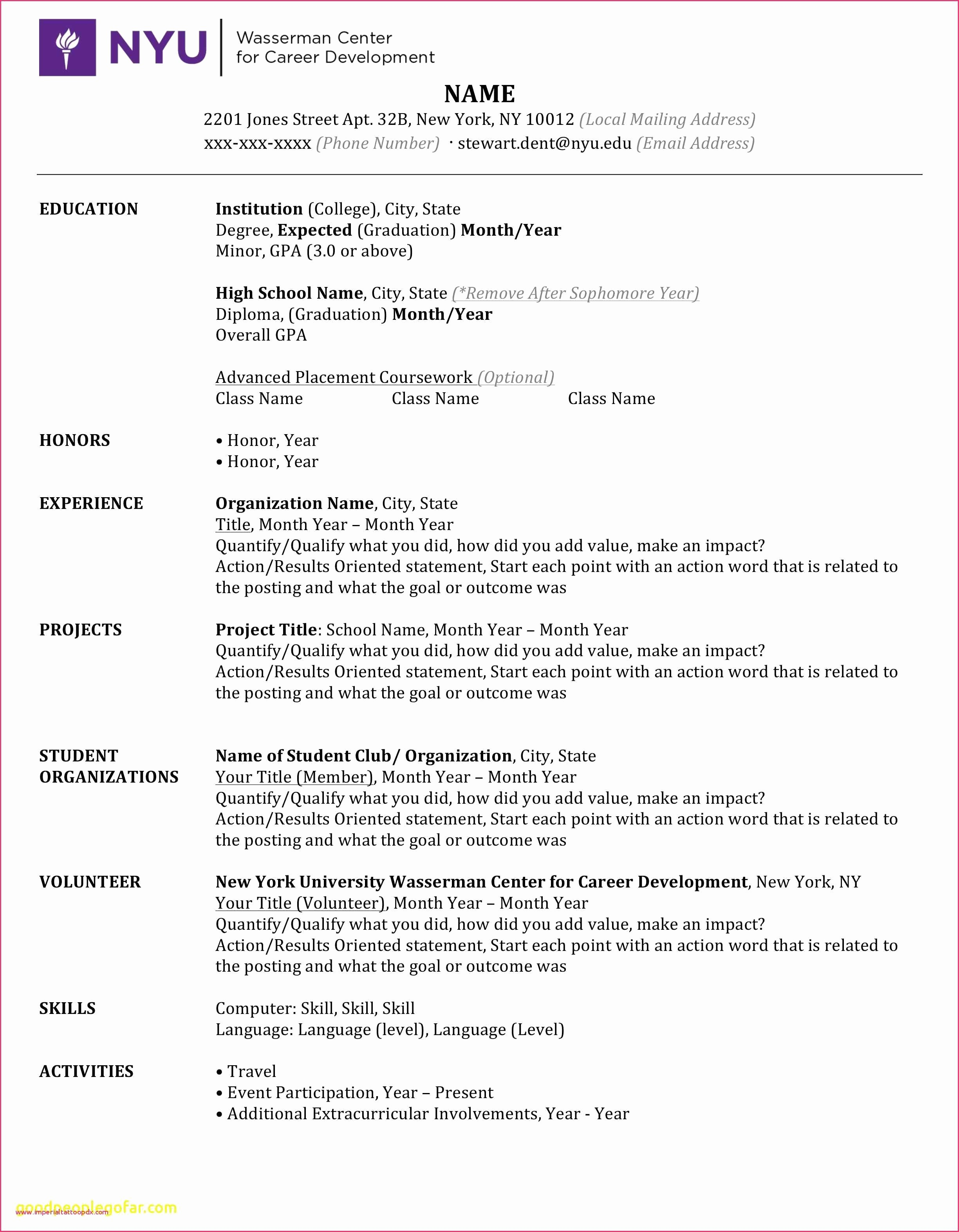 Microsoft Word 2007 Resume Templates Unique 46 Resume Template Download for Microsoft Word 2007