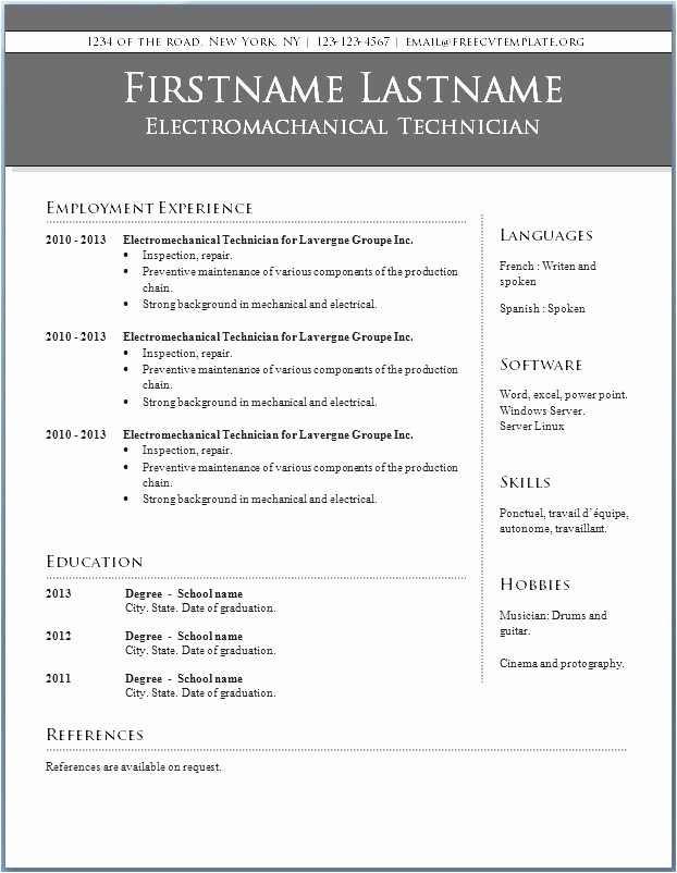 Microsoft Word 2010 Resume Templates Fresh Microsoft Word Resume Template 2010 Download