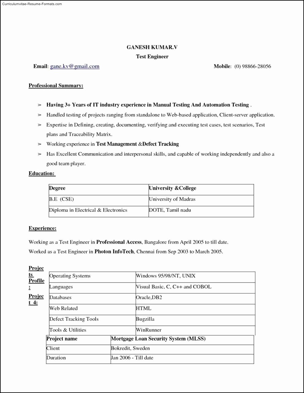 Microsoft Word 2010 Resume Templates New Ms Word 2010 Resume Templates Free Samples Examples