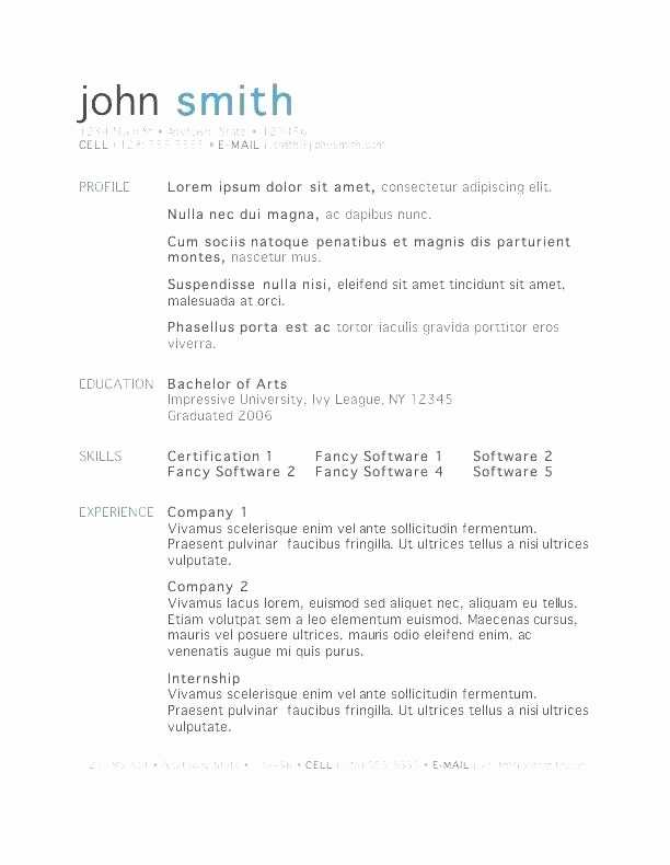 Microsoft Word 2010 Resume Templates Unique Microsoft Publisher 2010 Resume Templates Word Template