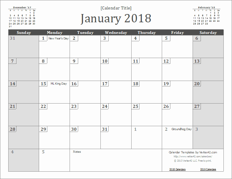Microsoft Word 2018 Calendar Templates Awesome 2018 Calendar Templates and Pdfs