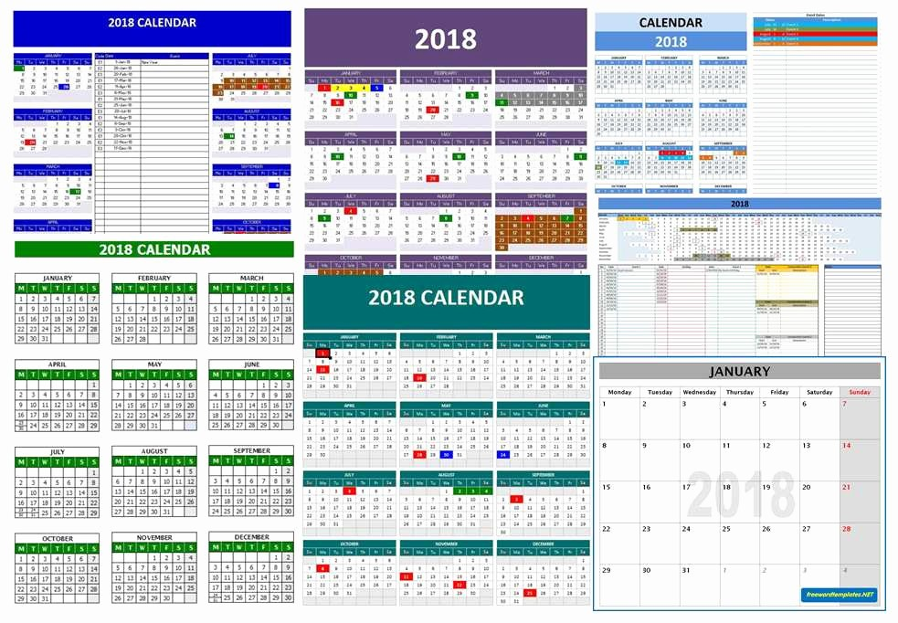 Microsoft Word 2018 Calendar Templates Best Of 2018 Calendar Templates