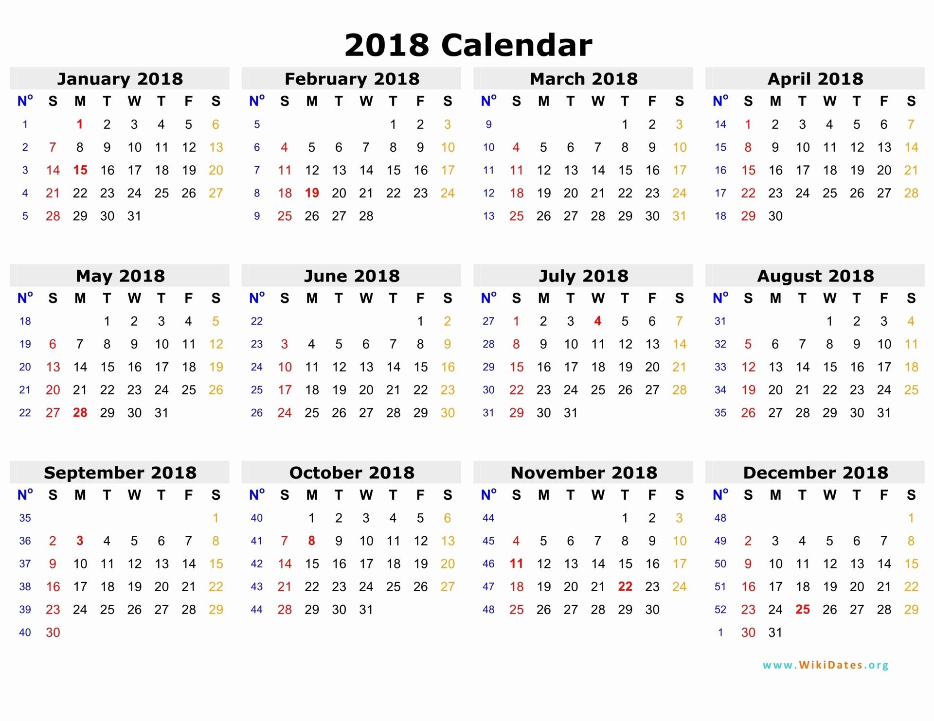 Microsoft Word 2018 Calendar Templates Fresh 2018 Calendar Word