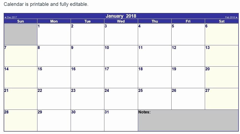 Microsoft Word 2018 Calendar Templates Inspirational 10 Free Sample Printable Calendar Templates for 2018