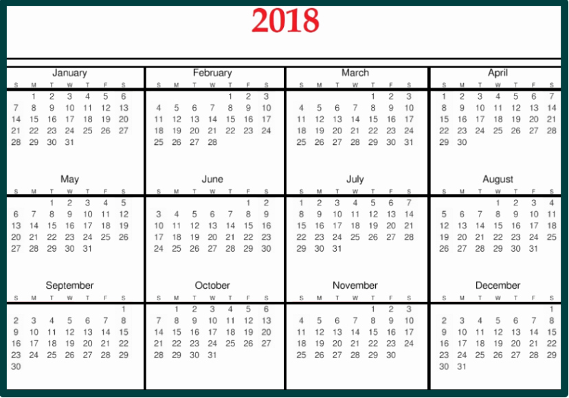 Microsoft Word 2018 Calendar Templates Inspirational 2018 Calendar Template Word