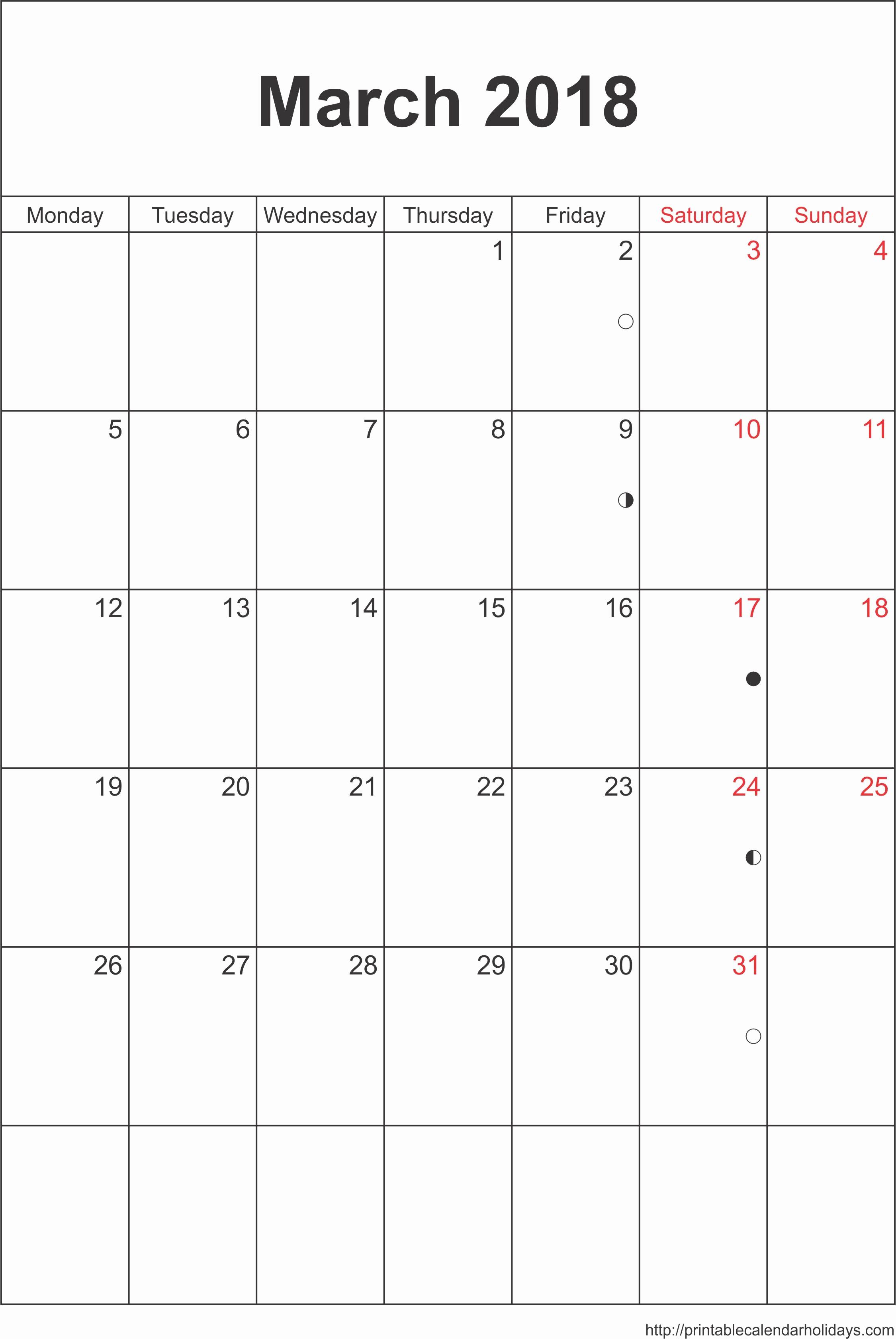 Microsoft Word 2018 Calendar Templates Lovely March 2018 Calendar Word
