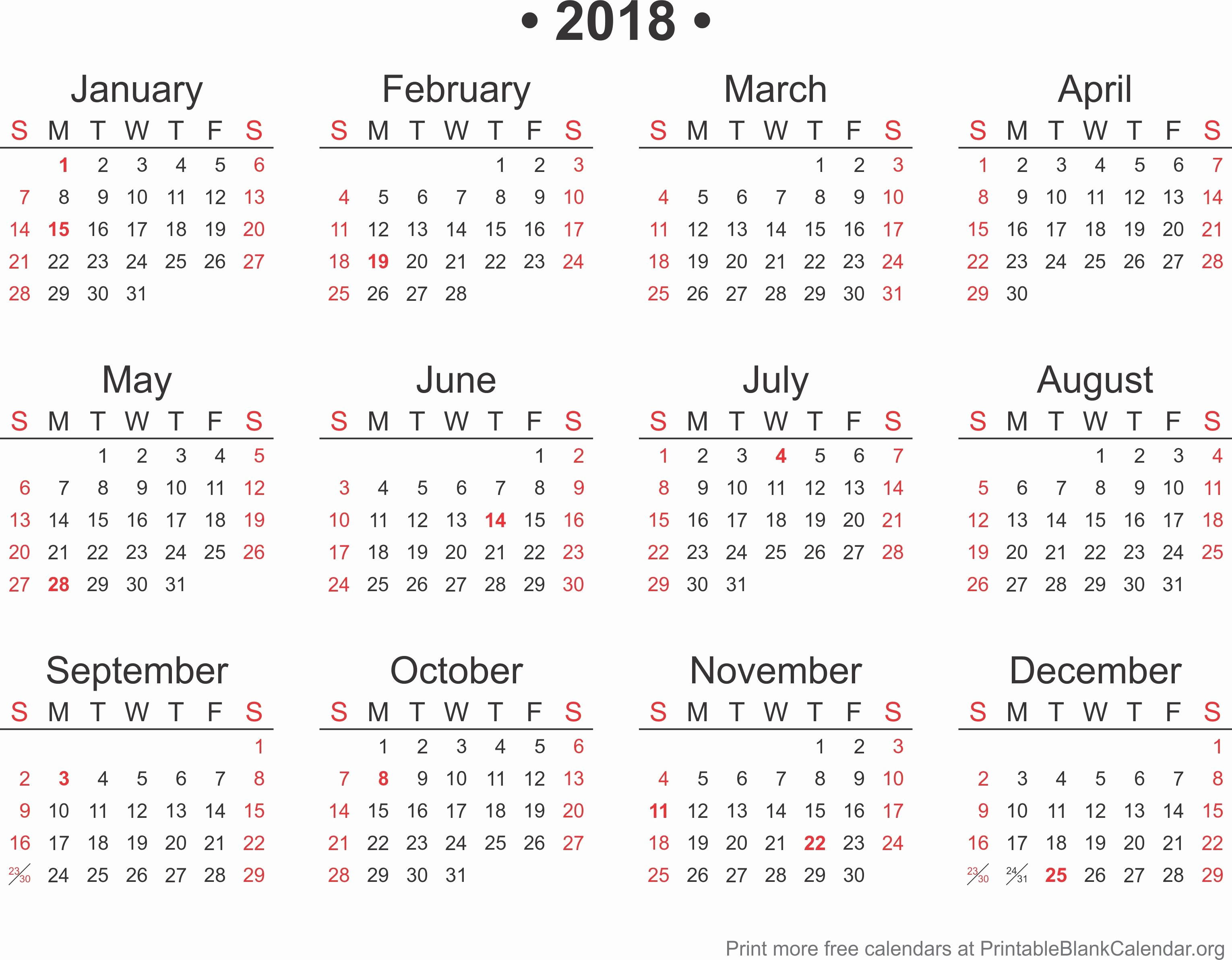 Microsoft Word 2018 Calendar Templates New 2018 Calendar Word format Template