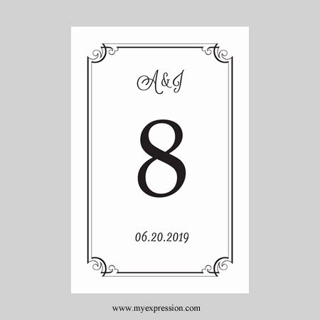 Microsoft Word 4x6 Card Template Best Of Wedding Table Number Card Template 4x6 Flat Black ornate