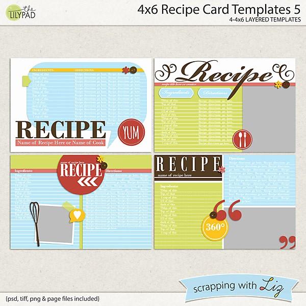Microsoft Word 4x6 Card Template Elegant Digital Scrapbook Templates 4x6 Recipe Card 5