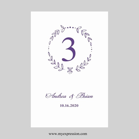 Microsoft Word 4x6 Card Template Elegant Wedding Table Number Card Template 4x6 Flat Monogram